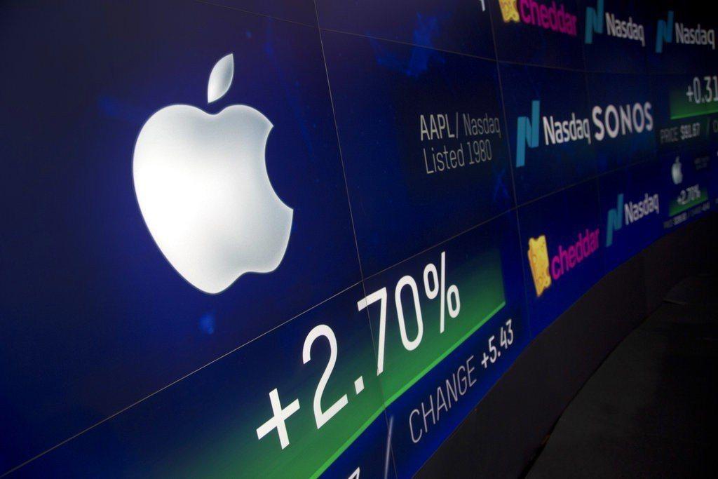蘋果市值突破1兆美元,寫下歷史新紀錄。 美聯社