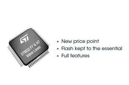 意法半導體推出新高性能和超高性能的STM32F7與H7超值產品線,推動即時物聯網...