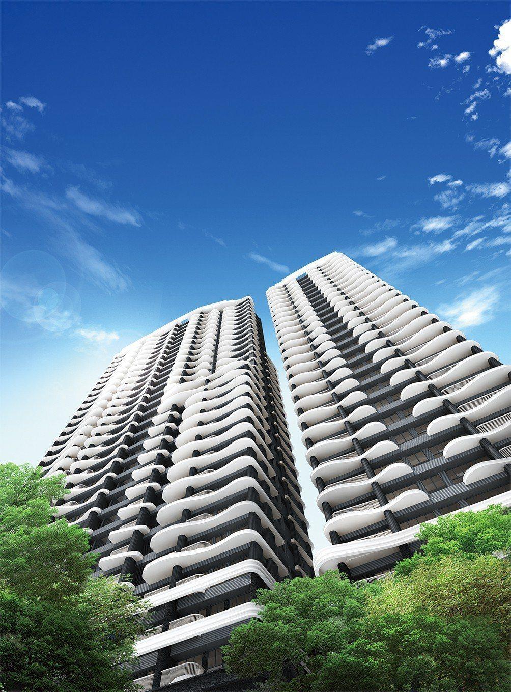 雙水灣由設計北京水立方的PTW建築團隊設計,國際感十足。 圖/雙水灣 提供