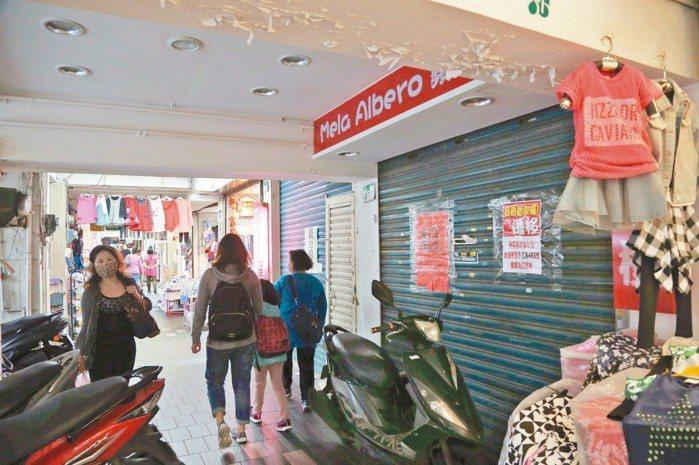 五分埔商圈出現轉租、關店潮。 圖片來源/聯合報系 記者林俊良攝影
