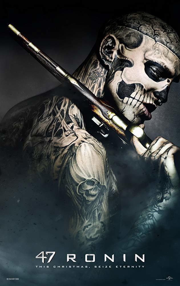 Rick Genest演出電影「浪人47」個人海報照。圖/擷自IMDb