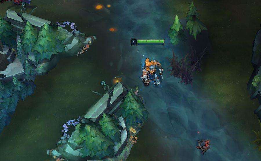 場景上所有的物品都比召喚峽谷矮了一截。圖/截自 Riot Games