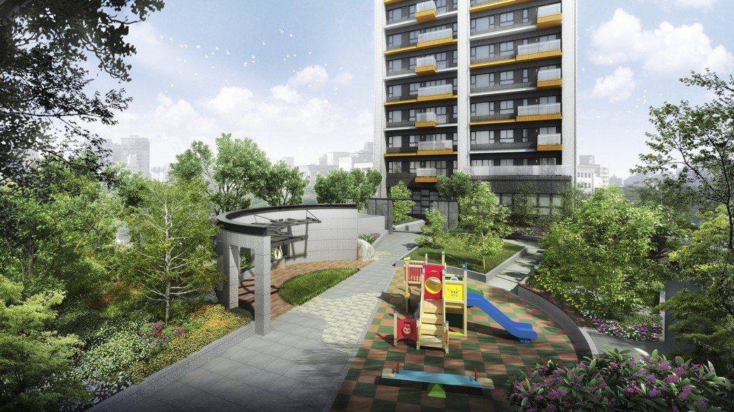 「隱苑」約300坪花園空間供住戶使用。 業者/提供
