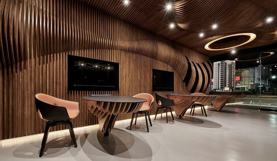 (圖)九號設計 接待會館設計作品《櫥窗裡的房子》