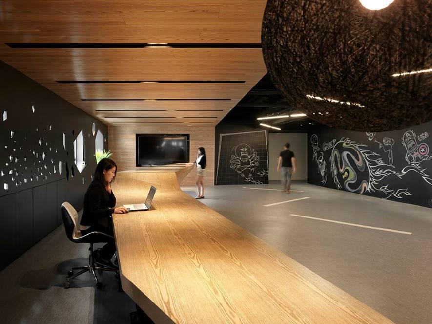 (圖)九號設計 接待大廳設計作品《恣遊空間.自由學習》