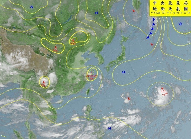 吳德榮說,今晨關島東北方的熱帶性低氣壓正在醞釀,預計一兩天內發展成颱風的機率很高...