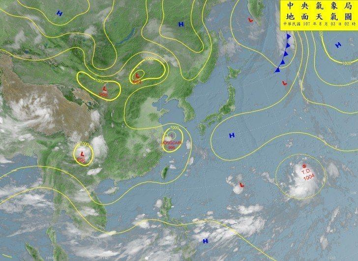 彭啟明說,台灣東南東方約3500公里處,有一個熱帶性低氣壓發展中,有機會成為颱風...