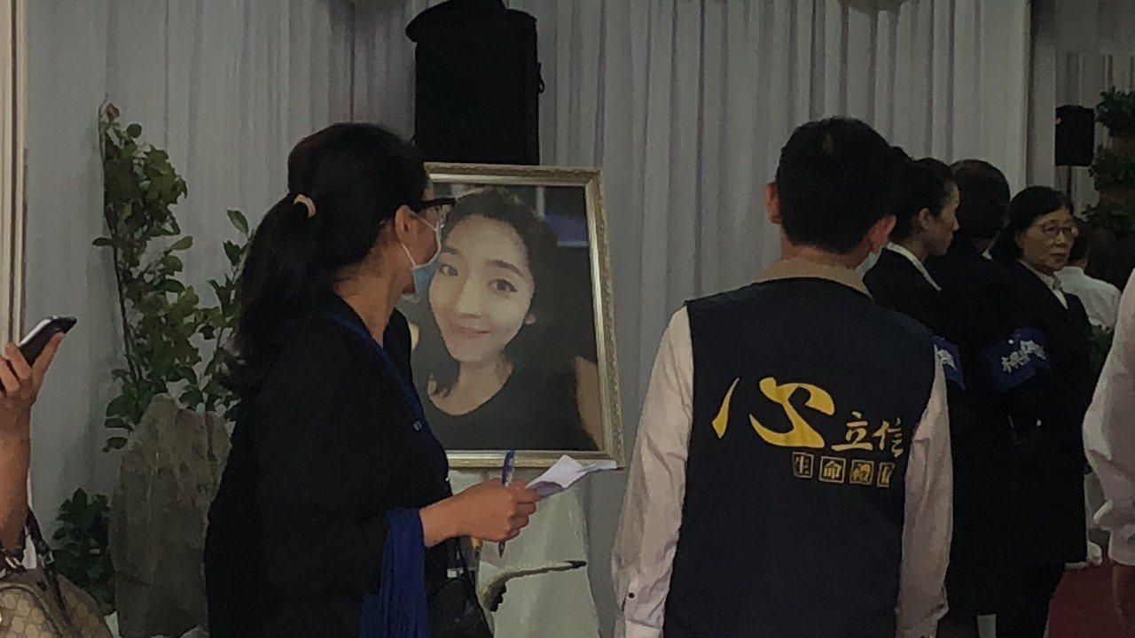 劉家今天舉辦告別式。記者李承穎/攝影