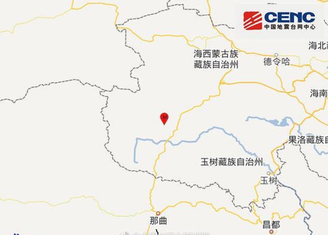 中國地震台網截圖