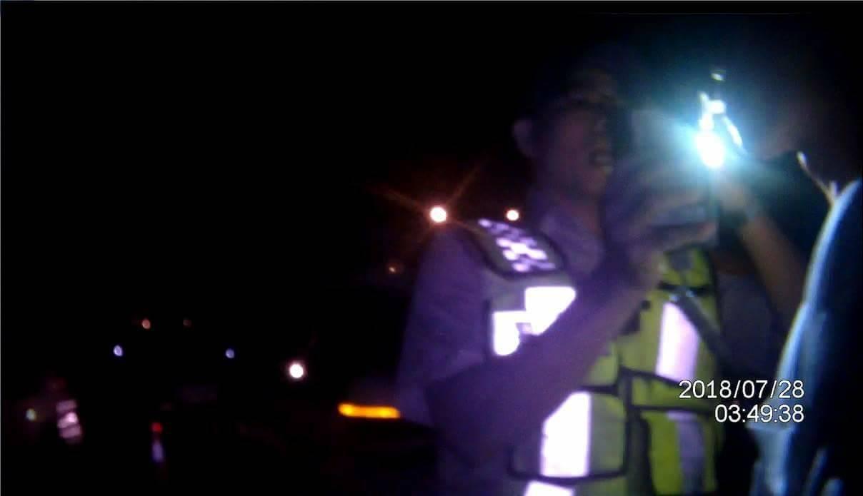 台中市西屯區謝姓男子上底酒駕被逮,辯稱不想麻煩朋友。記者陳宏睿/翻攝