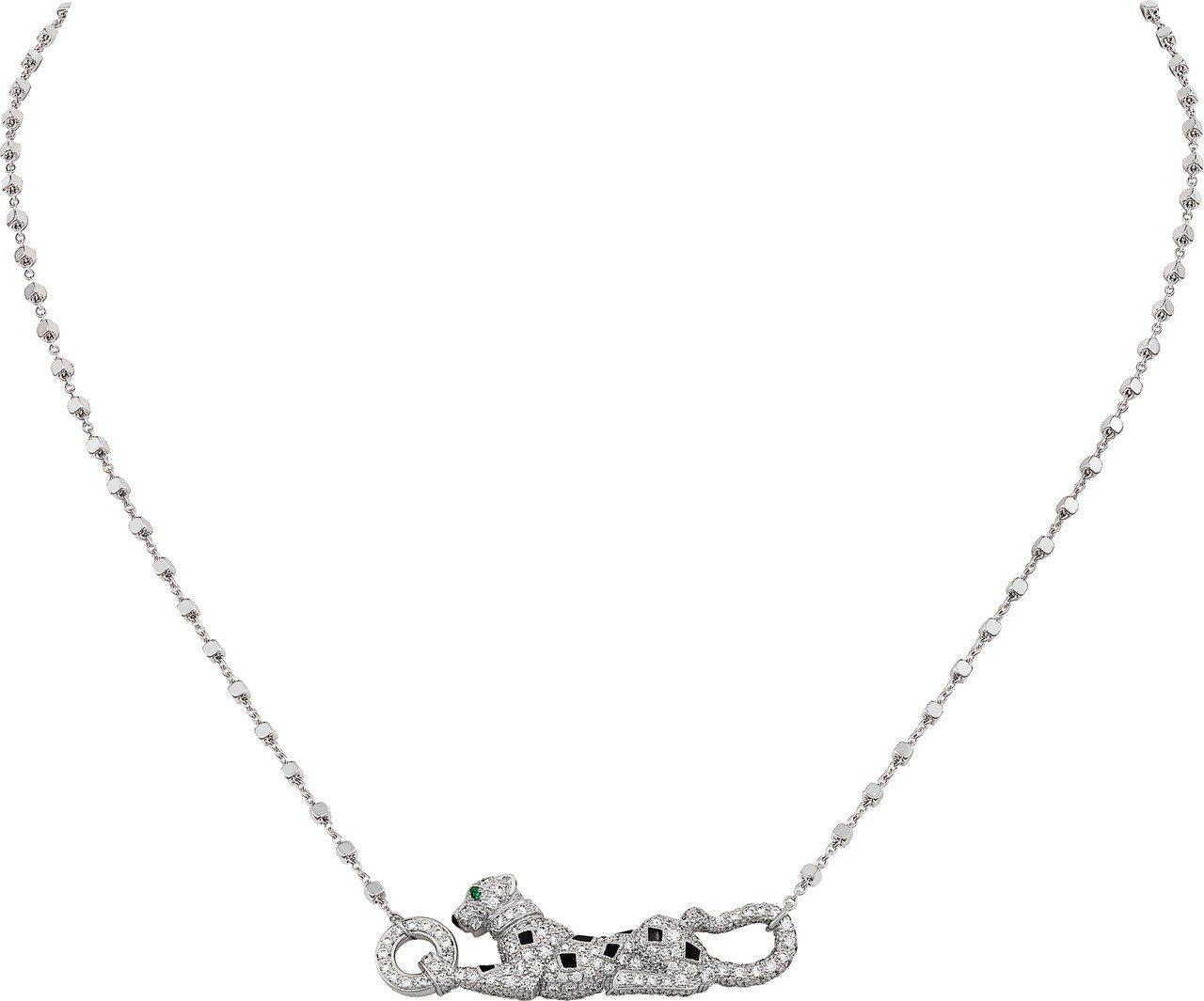 卡地亞 Sweet Demoiselle 趴豹鋪鑽項鍊,75萬元。圖/卡地亞提供