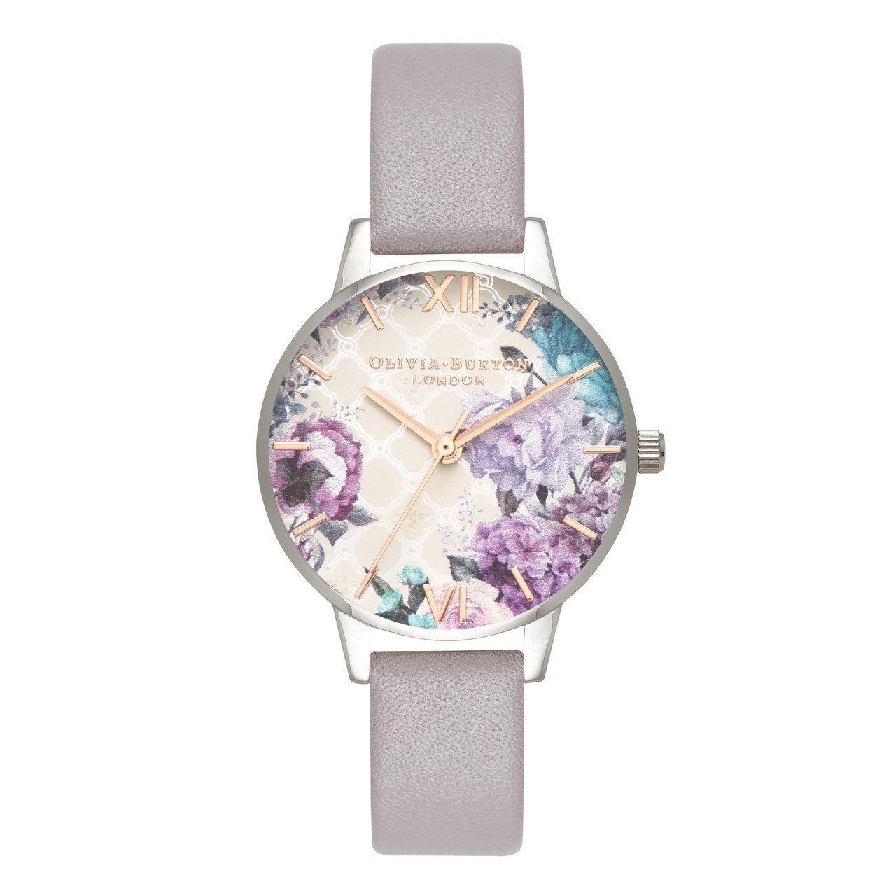 Olivia Burton的 Glasshouse Grey Lilac Ros...