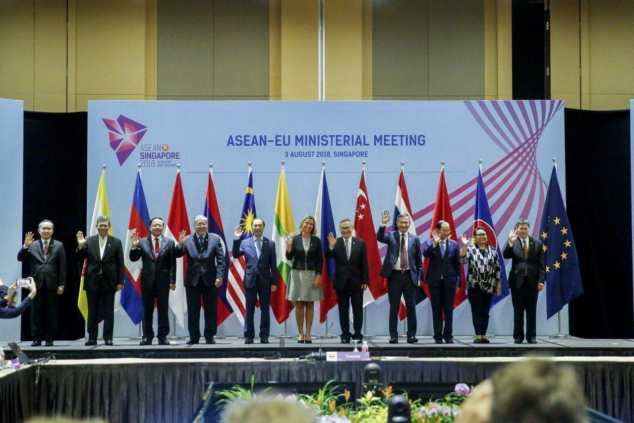 東協外長會議3日在新加坡揭幕。 歐新社