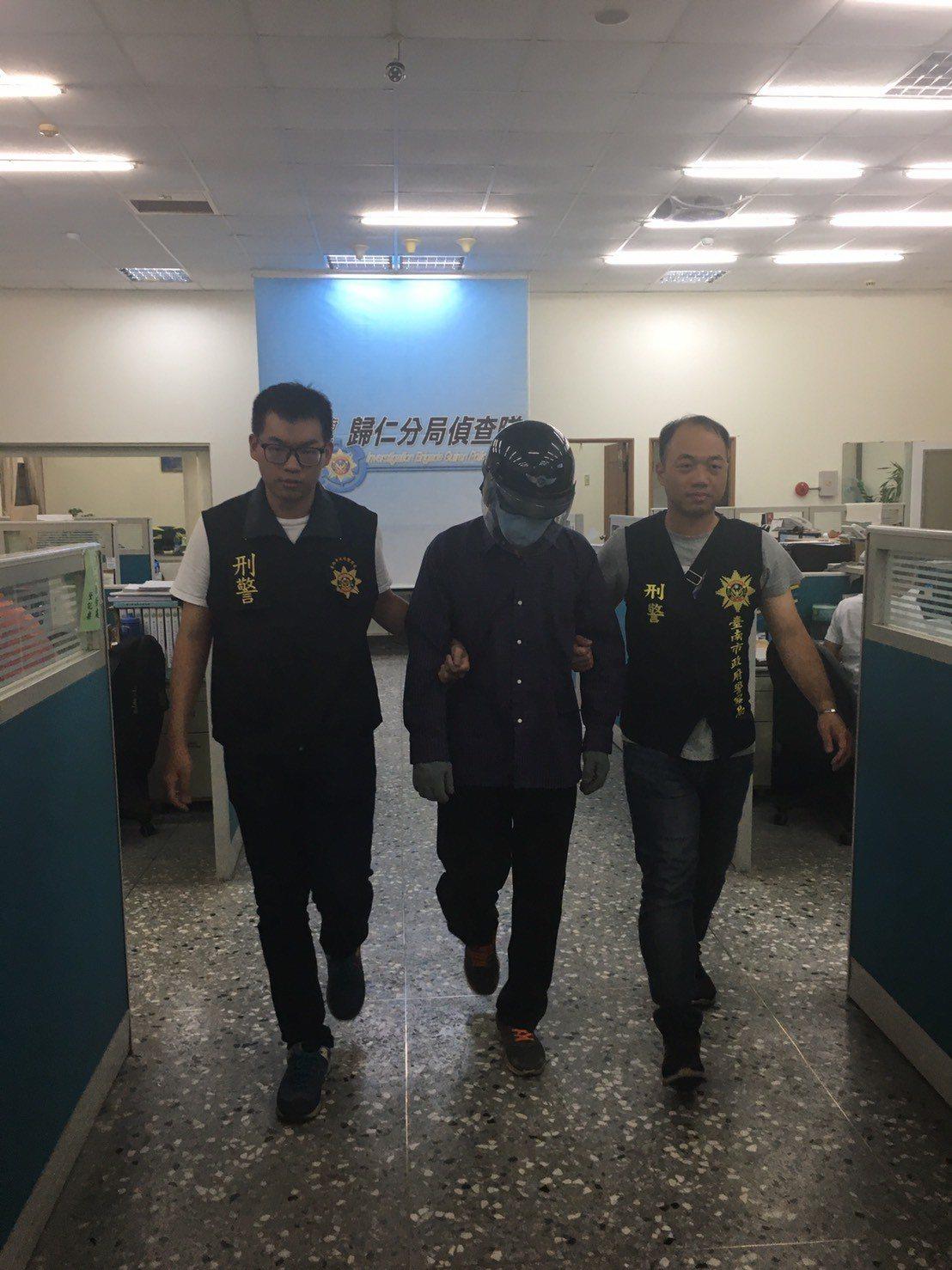警方根據監視器循線將人逮捕,全案經調查後,移送台南地檢署偵辦。記者綦守鈺/翻攝