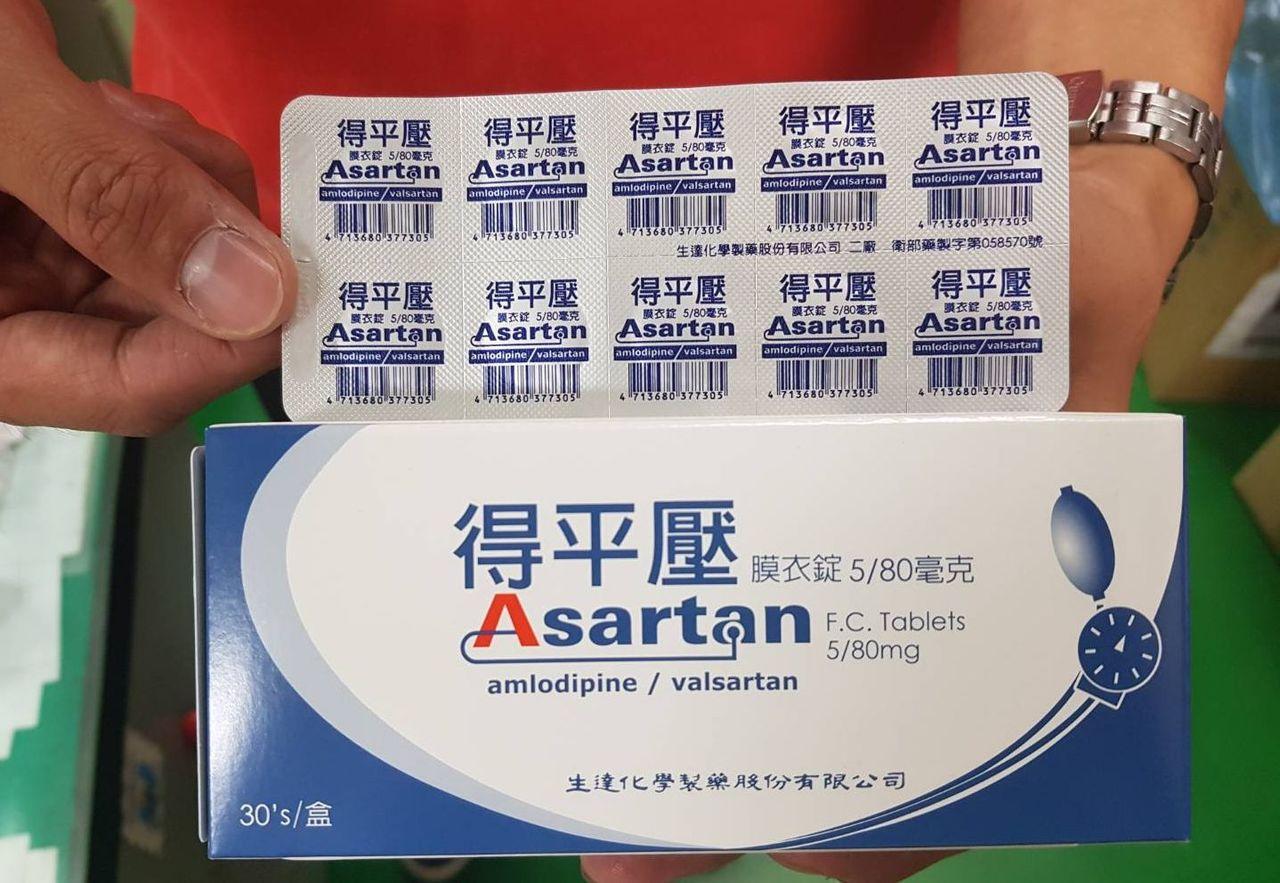 民眾手中有食藥署公告生達藥廠「得平壓」等4款降血壓藥物,記得找領取處方用藥的藥局...