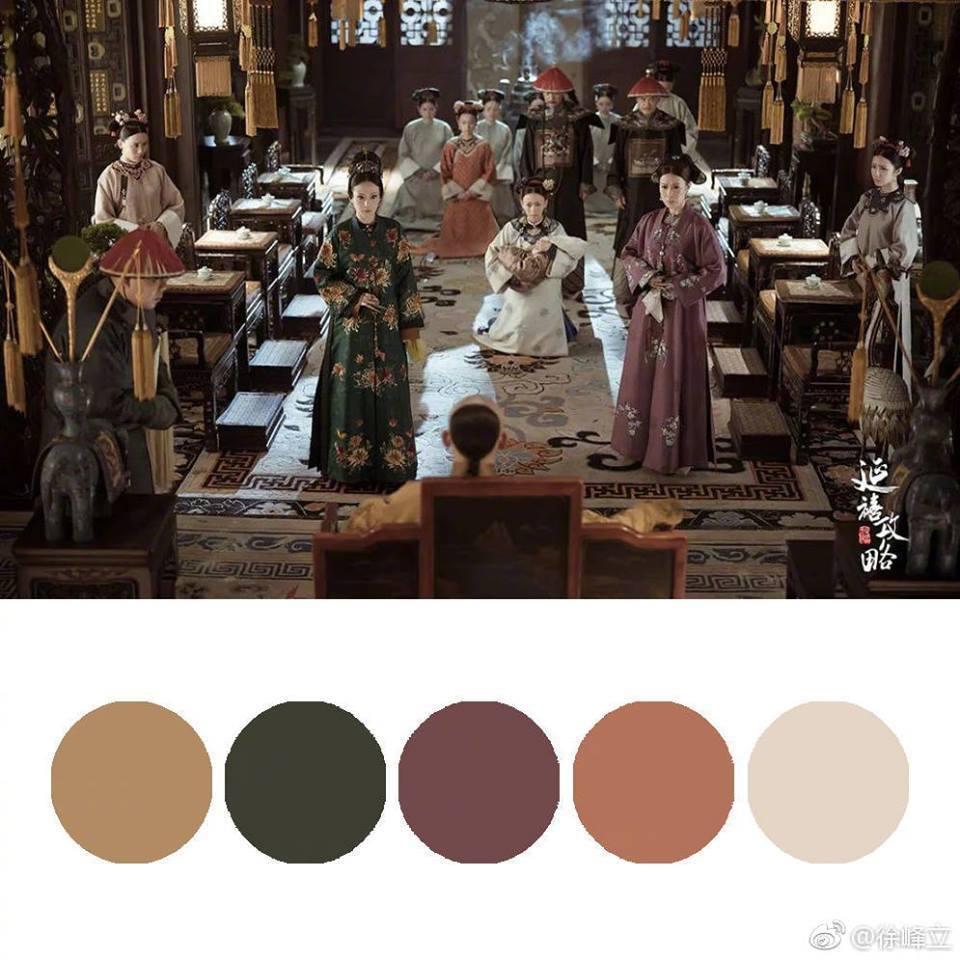 《延禧攻略》的「莫蘭迪色」,創造了全新的清宮劇時尚學。圖/取自《延禧攻略》官方臉...