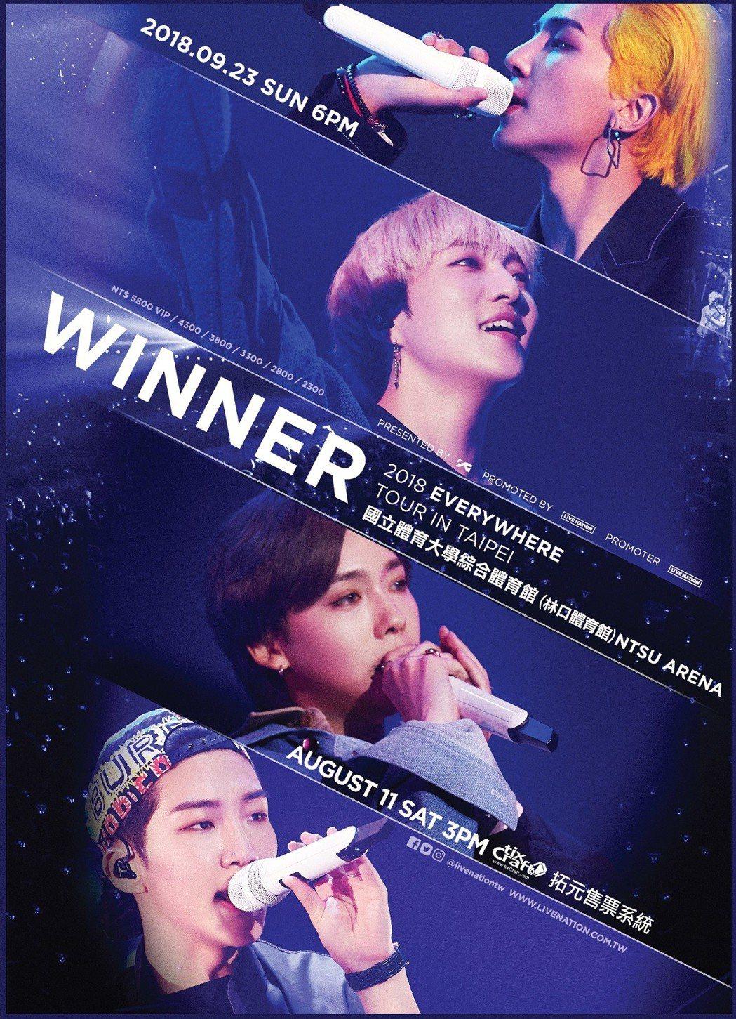 WINNER。圖/Live Nation 提供