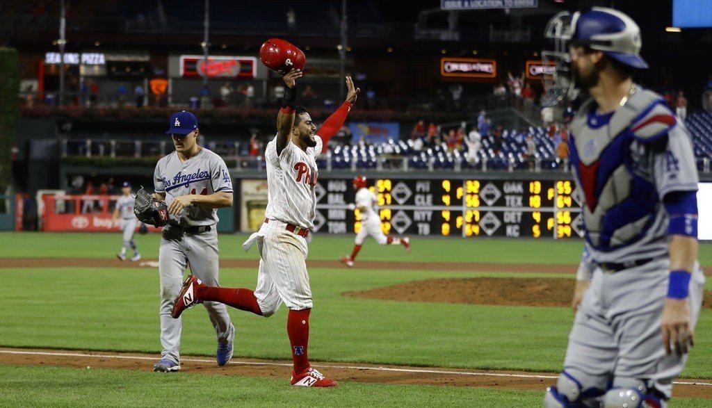 道奇本季至今僅一次推出野手投球,赫南德茲就慘挨再見三分砲。 美聯社