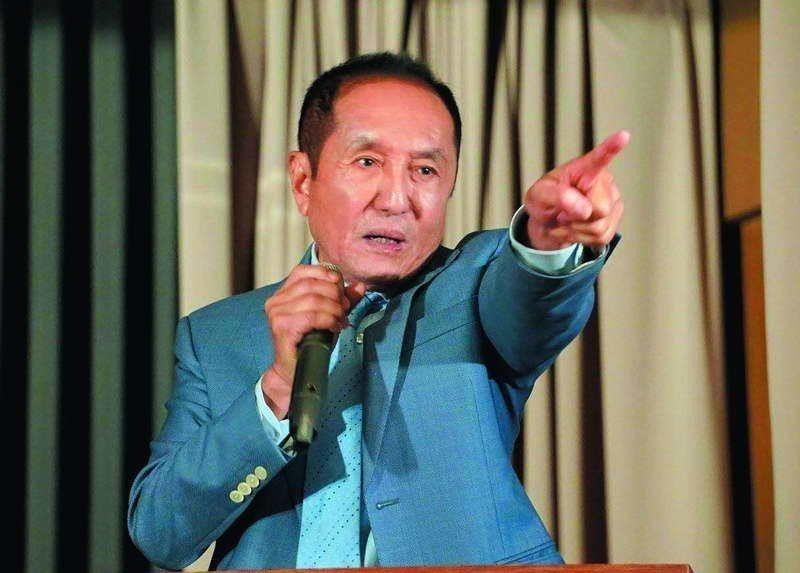 無黨籍台南市長參選人林義豐說自己是向銀行借錢參選。圖╱聯合報系資料照片
