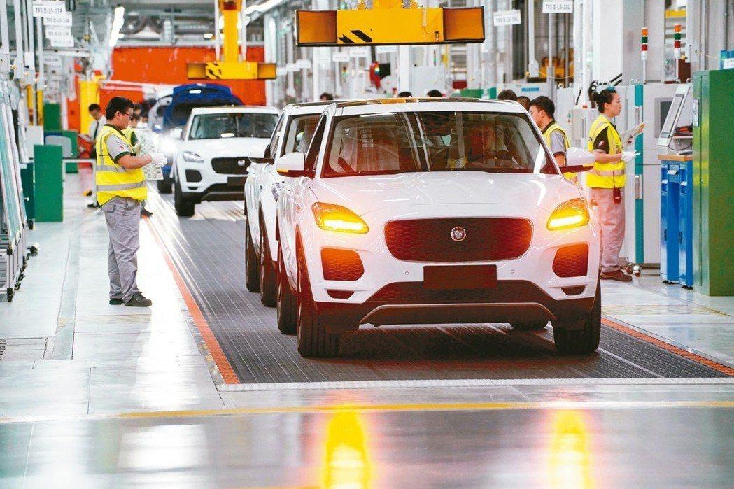 英國與奇瑞汽車合作,轉移到中國大陸生產的捷豹純電動車最新車型I-Pace。 路透