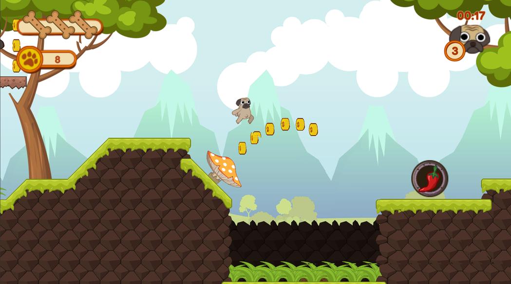「跑跑小臭頭」從美國一路展回台灣,開發者朱哲慷讓自家寵物當上遊戲明星,此款遊戲最...