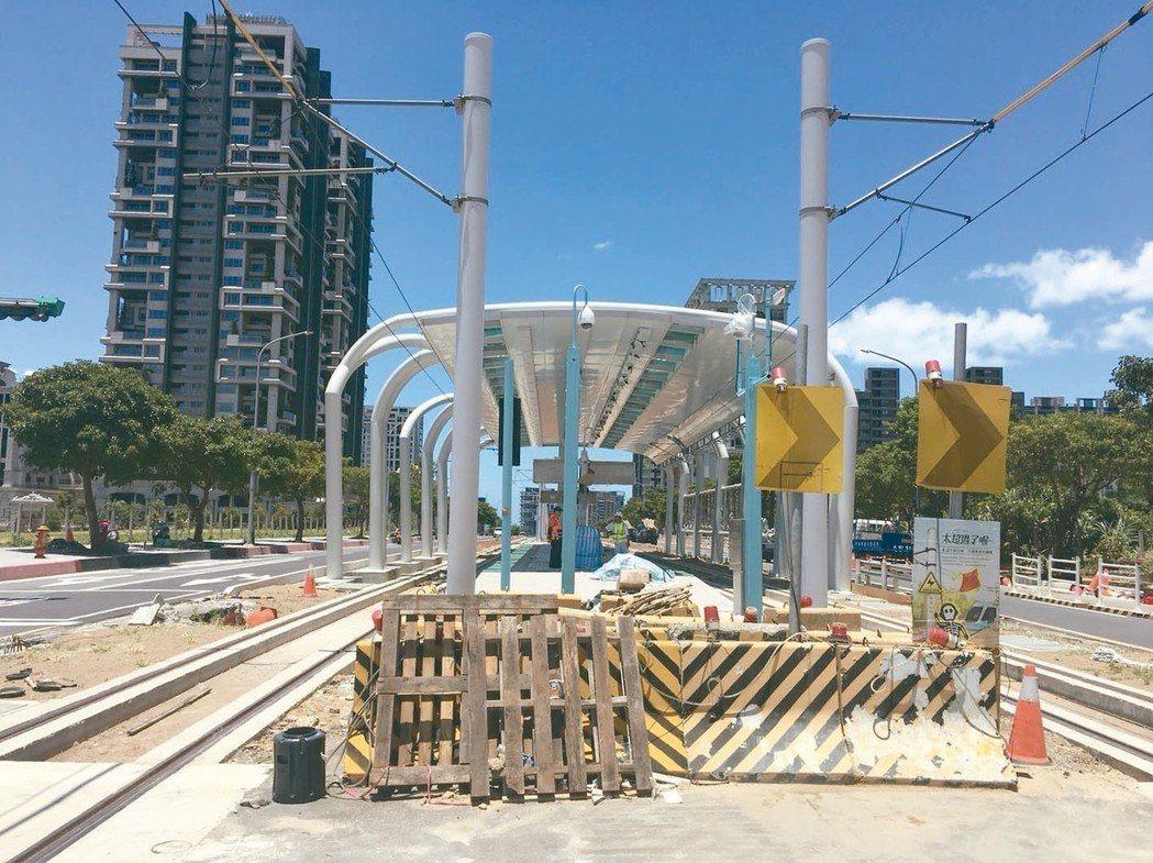 年底淡海輕軌綠山線完工,預估房市發展會加速。 記者游智文/攝影