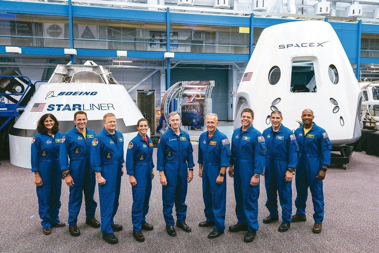 美國九位太空人明年將從本土升空,不必再仰賴俄羅斯太空船。 (美聯社)