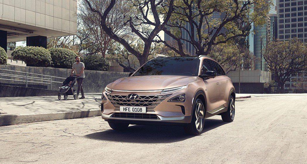 Hyundai全新氫燃料車Nexo。 摘自Hyundai