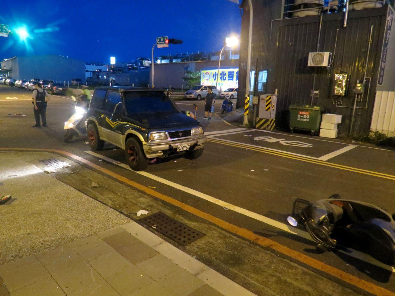 郭嫌涉嫌吸毒拉K開車追撞無辜母女,肇事後警方在車上搜出大批毒品。記者周宗禎/攝影