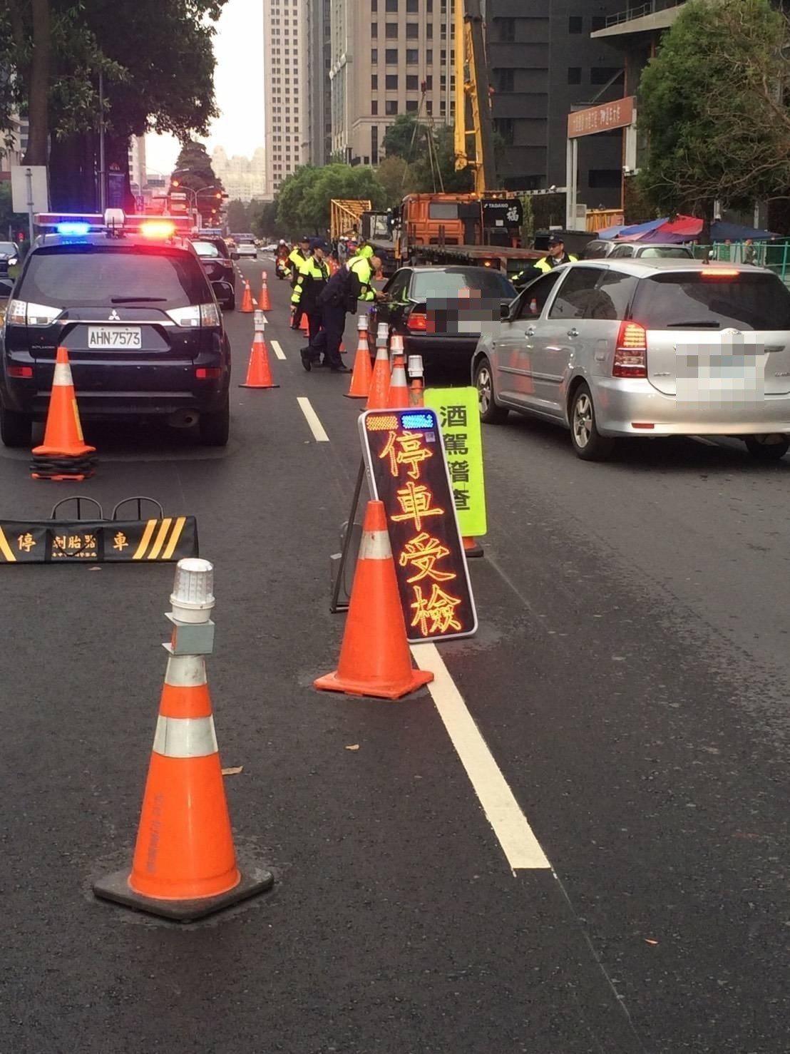 台中市警局執行路檢。圖/報系資料照