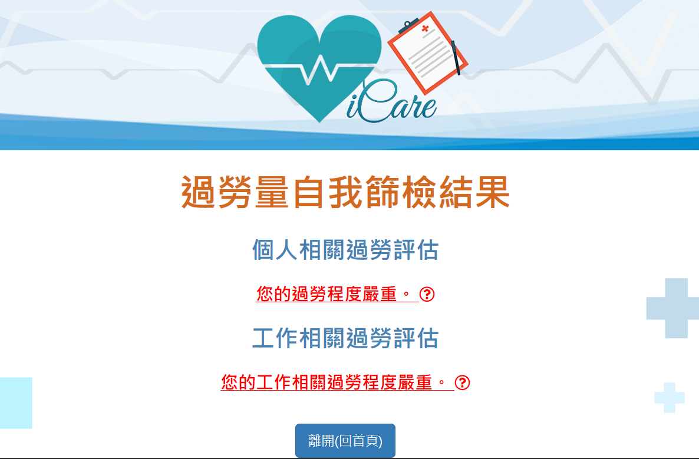勞動部首度推出「勞工個人健康管理工具iCare」手機App,讓使用者評估自己是否...