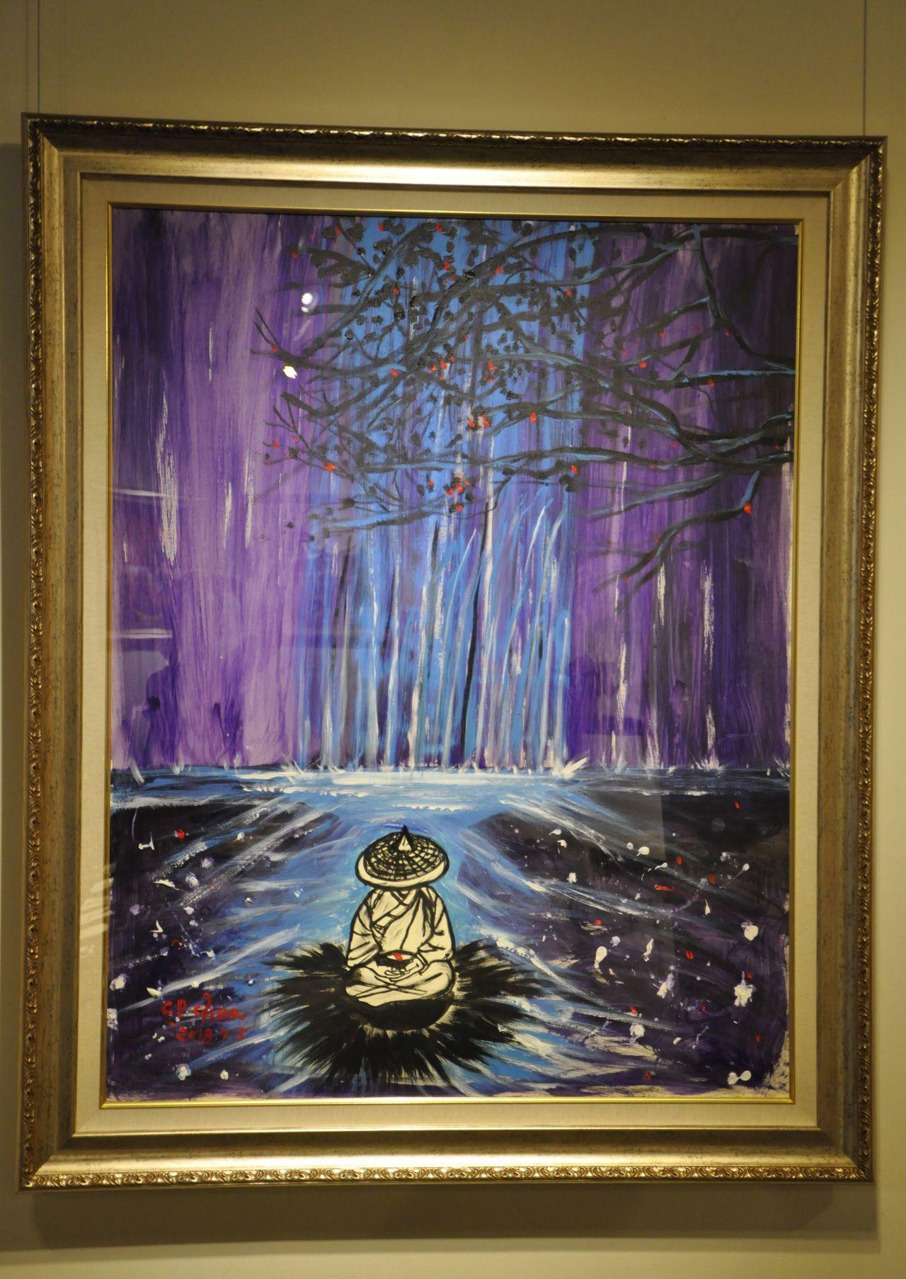 「蠟筆小平」陳持平教授,透過繪畫與互動,把快樂傳給別人。圖/新竹市文化局提供