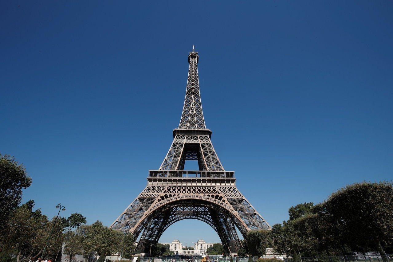 巴黎鐵塔。路透