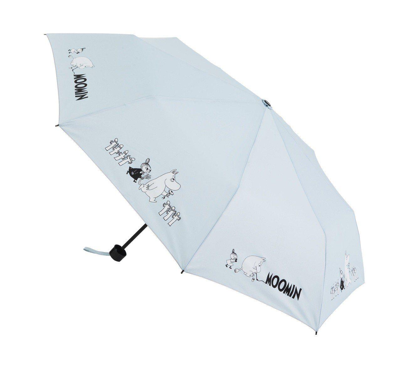 康是美MOOMIN遮陽擋雨傘,8月15日至8月28日加購價229元。圖/康是美提...