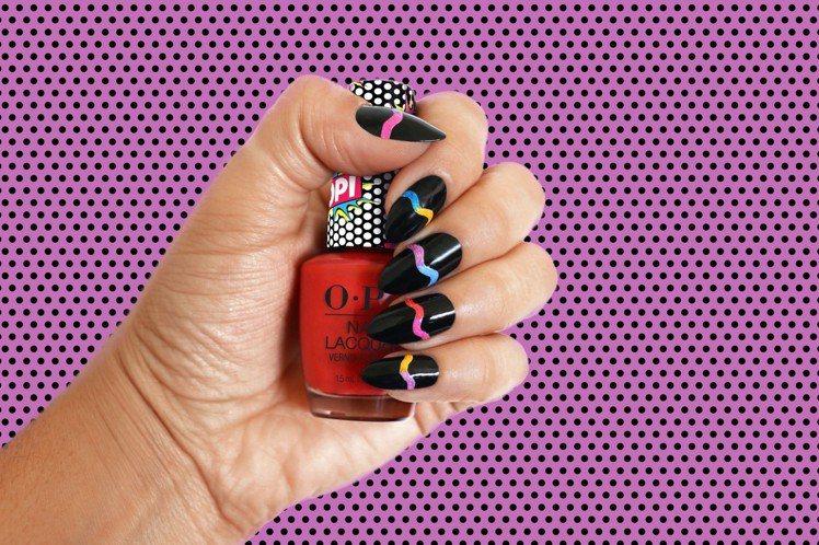 OPI彩虹氣泡酒系列指甲油可以自己玩出極具視覺效果的創意指尖藝術。圖/OPI提供