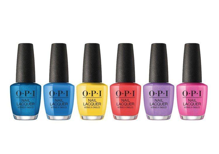 OPI彩虹氣泡酒系列共有6色3D效果的指甲油,單價480元。圖/OPI提供