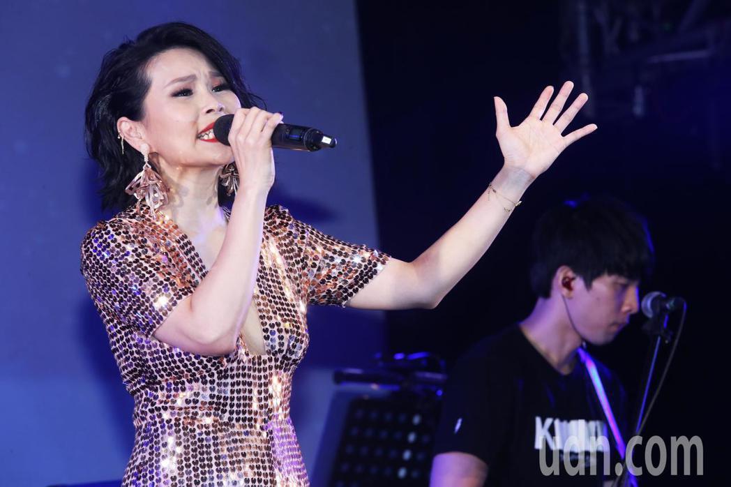 周蕙今天在台北華山Legacy舉辦「不被遺忘的時光」演唱會。記者徐兆玄/攝影