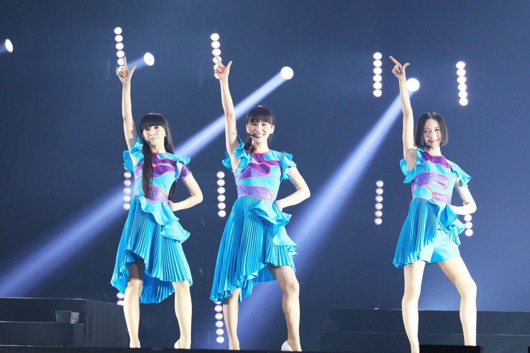 Perfume連唱9首歌曲。圖/相信提供