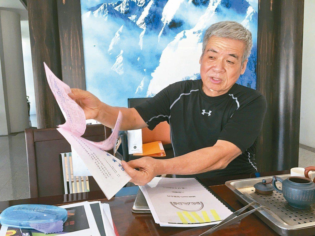 日統客運是否結束營業?董事長林義風仍在考慮。 記者陳雅玲/攝影