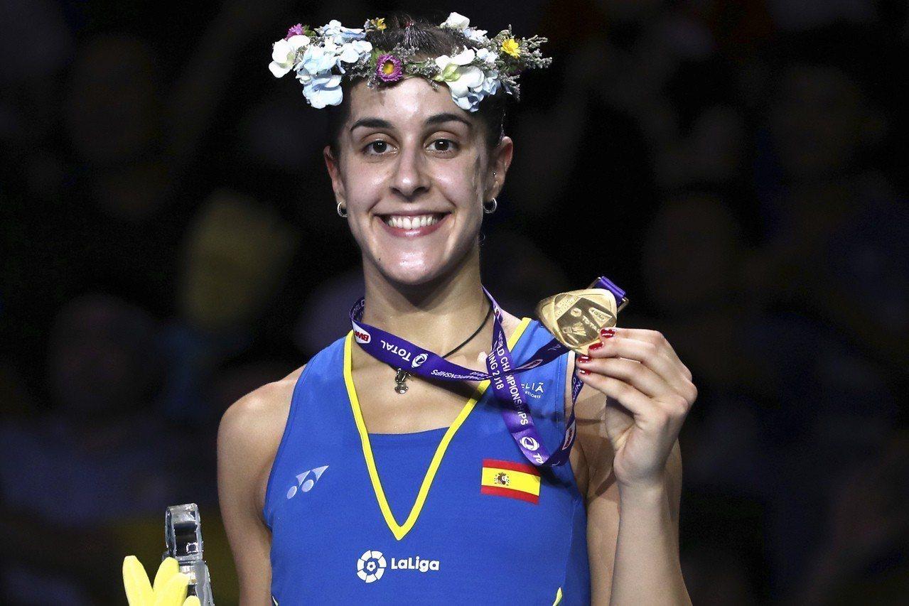南京羽球世錦賽女子單打決賽,前西班牙球后馬琳(Carolina Marin)力克...