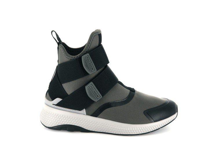 Palladium AX_EON Amphibian Mid系列太空灰女鞋,約2...