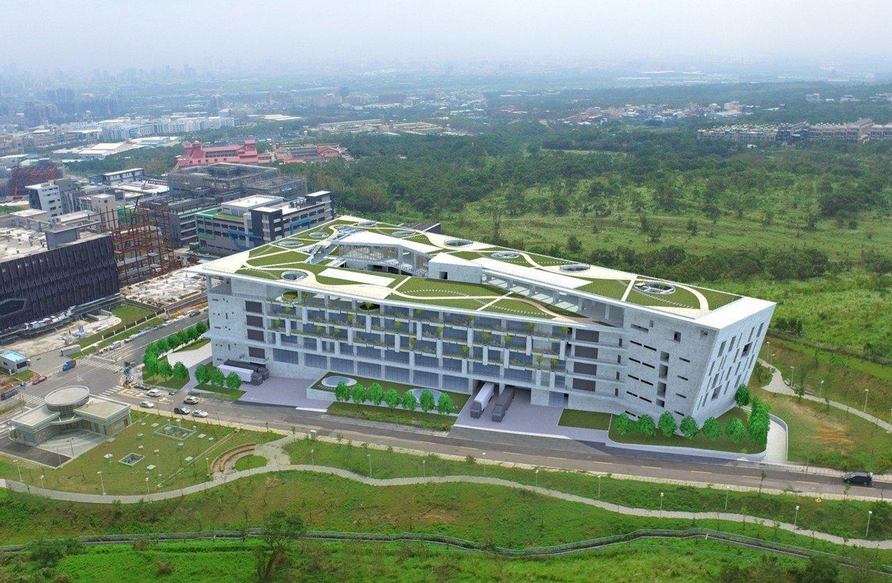 台中市精密園區二期標準廠今上樑,年底前完工。圖/台中市政府提供