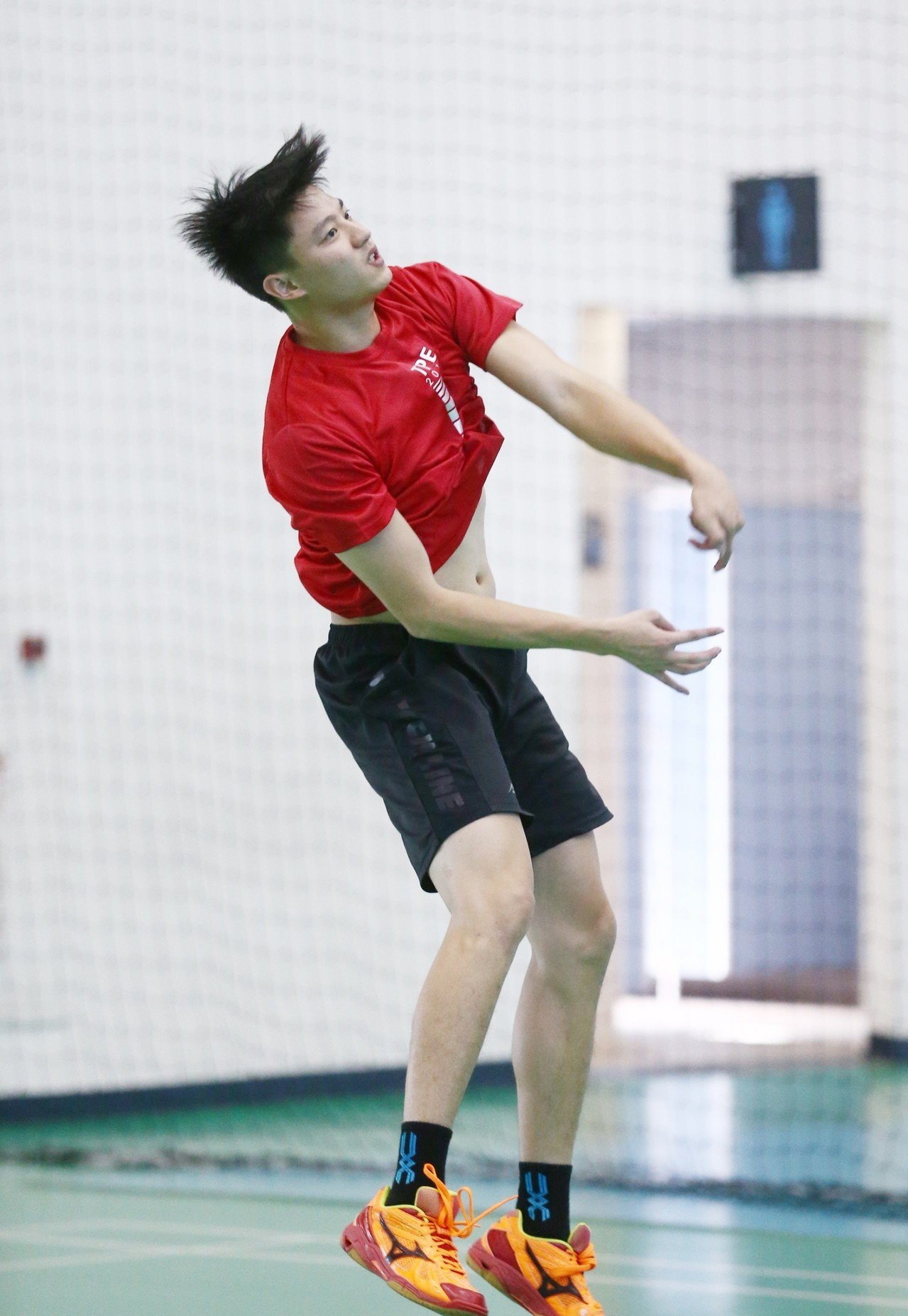 吳宗軒備戰亞洲盃男排。圖/中華排球協會提供。