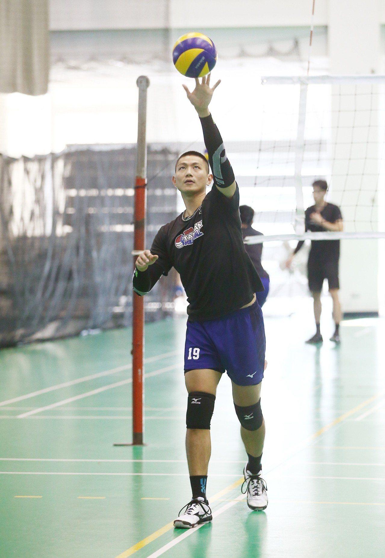 隊長陳建禎認為球隊狀況漸入佳境。圖/中華排球協會提供。