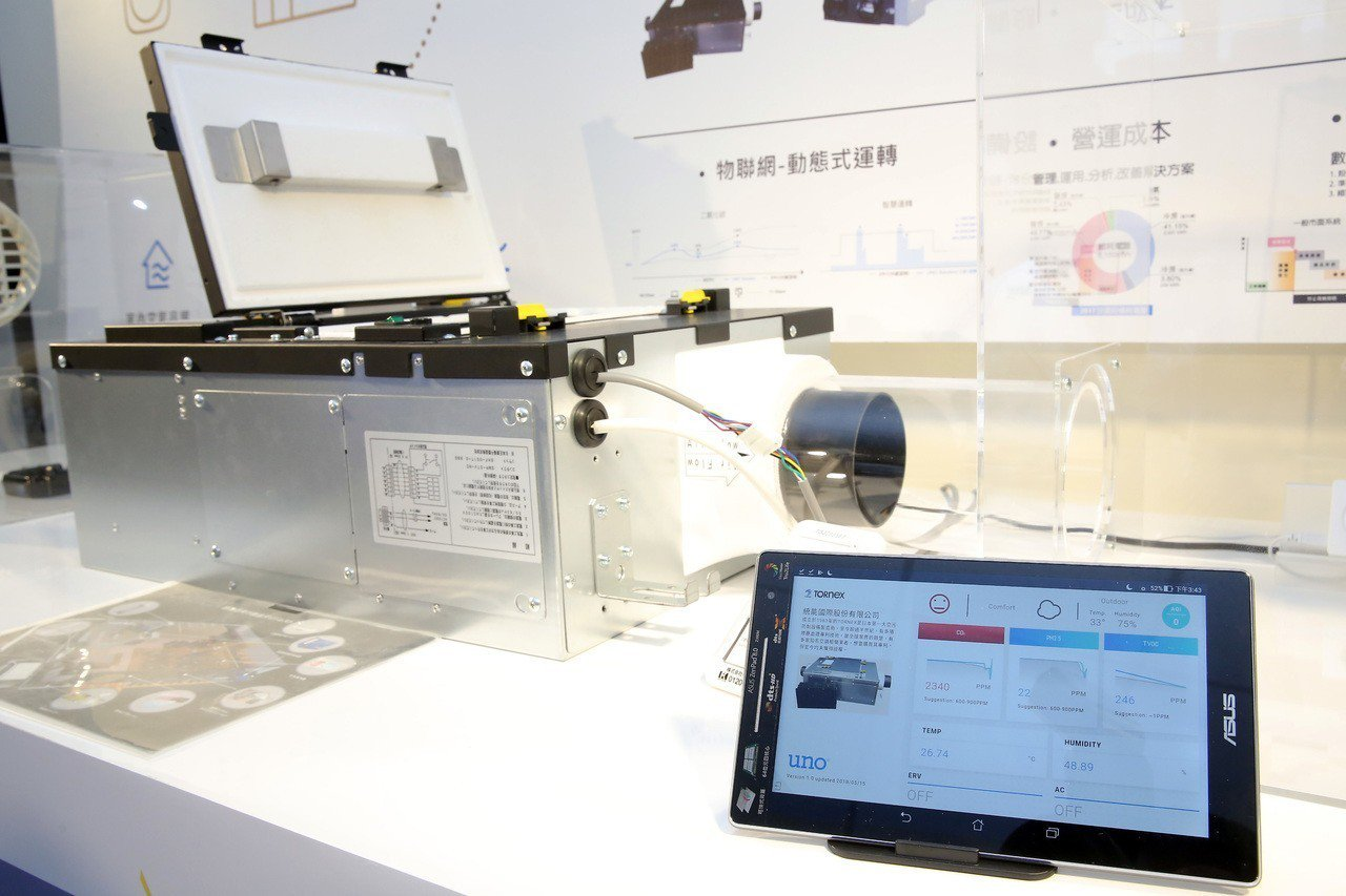 TORNEX外氣新風清淨機搭配台達電UNO室內環境品質解決方案,隨時隨地都能掌握...