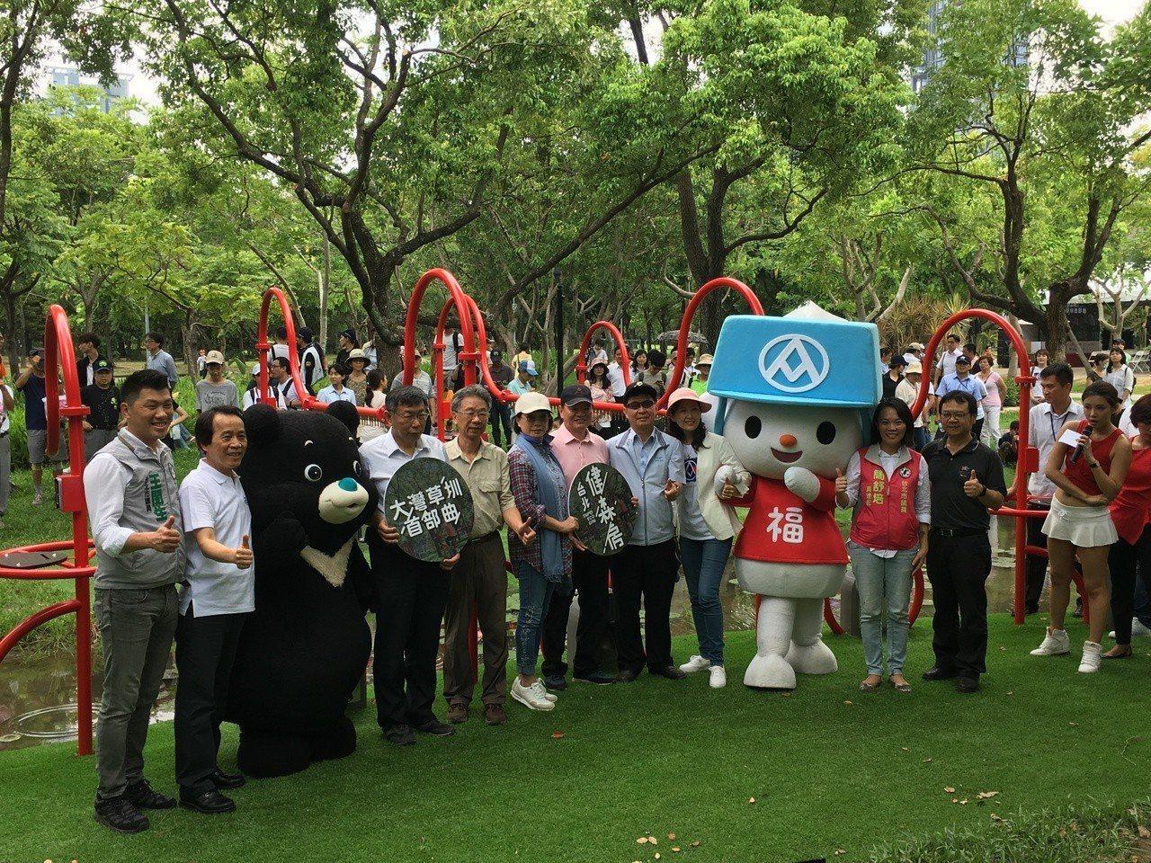 台北市長柯文哲今天出席「大灣草圳記者會」。記者張世杰/攝影