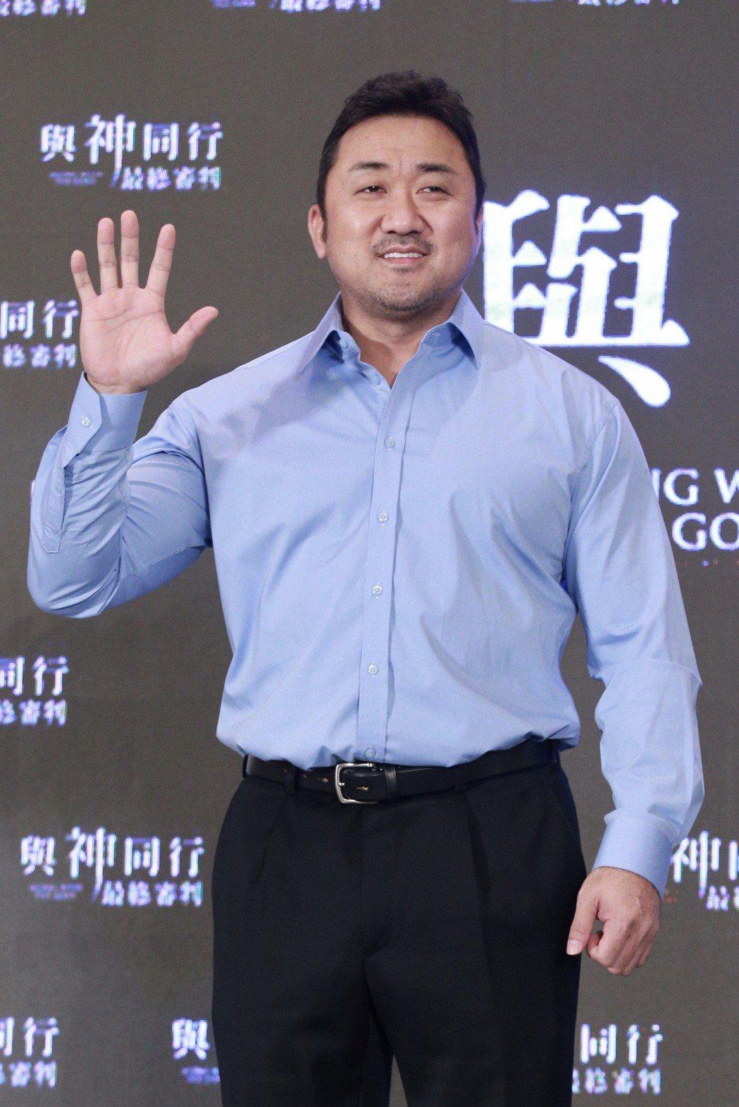 「與神同行」演員馬東石中午出席在台北文華東方舉行的亞太國際記者會。記者林伯東/攝...