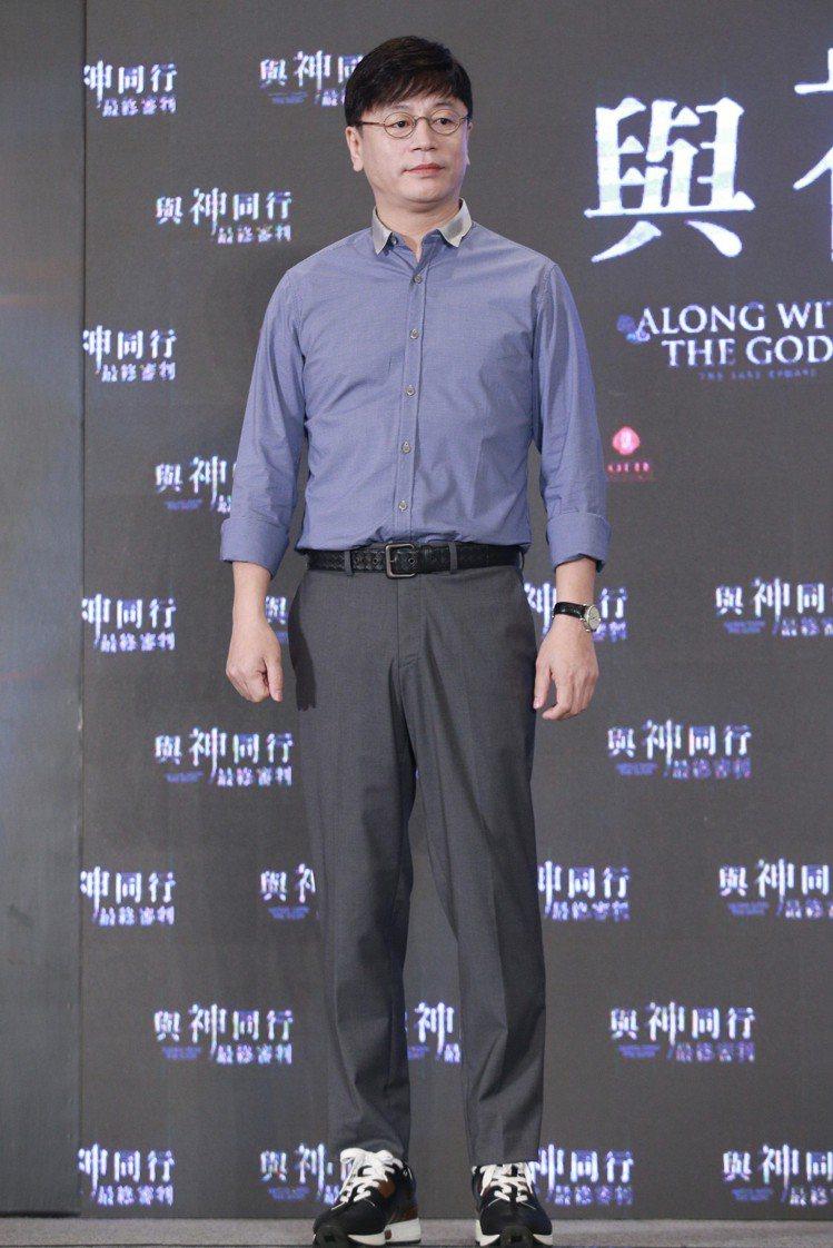 「與神同行」導演金容華出席在台北文華東方舉行的亞太國際記者會。圖/記者林伯東攝影