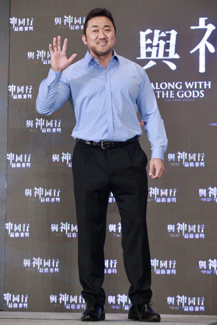 「與神同行」演員馬東石出席在台北文華東方舉行的亞太國際記者會。圖/記者林伯東攝影