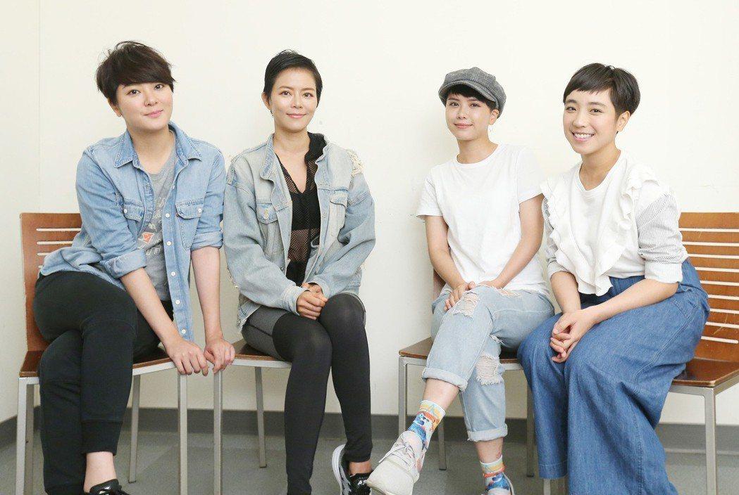 「女兵日記」專訪,楊雅筑(左起)、劉香慈、方語昕、梁舒涵。記者許正宏/攝影